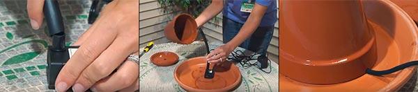 Подготавливаем насос для мини-фонтана