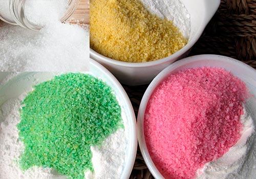 Как сделать цветной песок в домашних условиях из песка